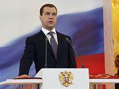 Dmitrij Medveděv skládá prezidentský slib