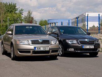 Škoda Superb stará v. nová