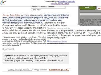 Google Blogoscoped - překlad z angličtiny