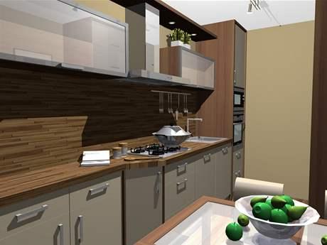 První varianta kuchyňské linky