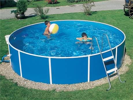 Kruhový nadzemní bazén