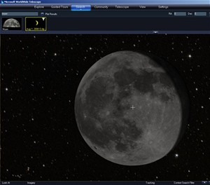 WorlWide Telescope - Měsíc