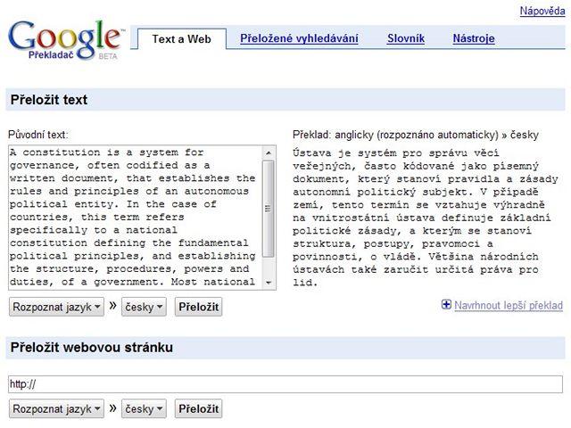 Google P�eklada�