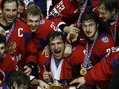 Hokejisté Ruska slaví titul mistra sv�ta