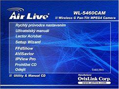 Menu nastavení IP kamery Ovislink WL-5460CAM