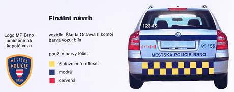 Nové značení vozidel brněnských strážníků