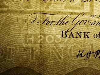 Ďáblova dílna - falešná librová bankovka