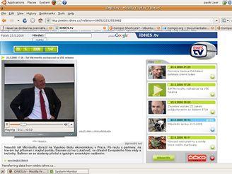 Ubuntu - i idnes.tv funguje
