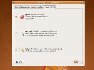 Ubuntu - nastavit efekty
