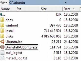 Ubuntu - adresář na disku