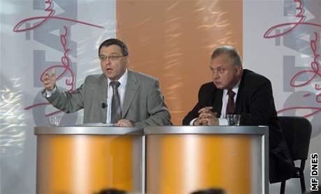 Debata ČT o radaru v Borovně - Zaorálek a Ransdorf