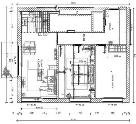 Tři varianty ložnice