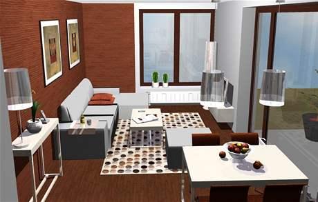 Tři varianty ložnice - první varianta