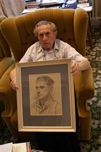 Adolf Burger - portrét malovaný králem padělatelů Smoljanovem