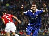 Manchester United - FC Chelsea, Lampard (vpravo)