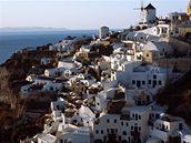 řecký ostrov Santorini, město Oia