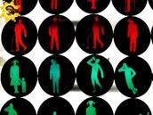 Figurky ze semaforů podle umělce Romana Týce