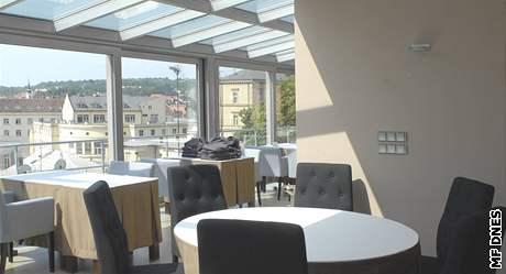 Vyhlídka na Staré Brno z novostavby Anenských teras