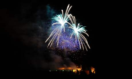 Festival ohňostrojů Ignis Brunensis 2008 zakončilo ohňostrojové grandfinále nad hradem Špilberk