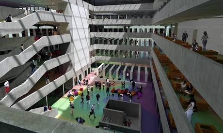 Vizualizace interiéru Národní technické knihovny na pražském Flemingově náměstí