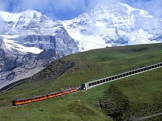 Švýcarsko, vlak před Jungfrau