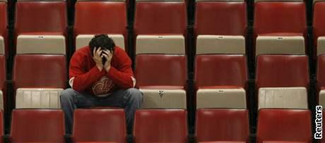 Smutný fanoušek Detroitu