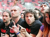Koncert kapely Metallica - fanou�ci