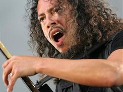 Koncert kapely Metallica - kytarista Kirk Hammett