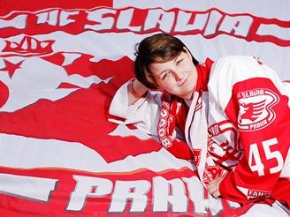 Alena Kalinová - předsedkyně fanklubu HC Slavia Praha