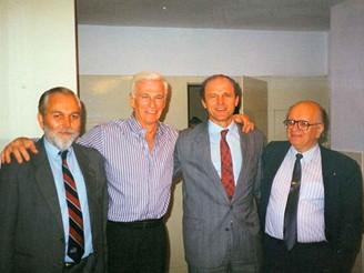 Pánové Kroulík, Cernan, Kolář a autor článku na hvězdárně v Ondřejově