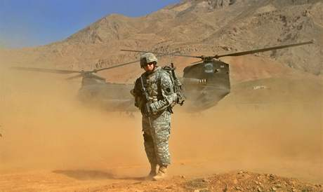 Americký voják v Afghánistánu. Ilustra�ní foto.