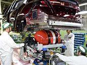 Výroba vodíkové Hondy FCX Clarity