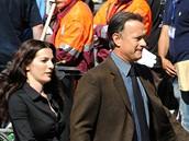 Z natáčení filmu Andělé a démoni - Tom Hanks a Ayelet Zurer