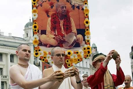 Brnem prošli příznivci hnutí Hare Krišna