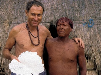 Etnograf Mnislav Zelen�, zvan� Atapana, u amazonsk�ch indi�n�