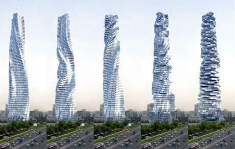 Dubaji a moskvě budou stát rotující mrakodrapy. podívejte se