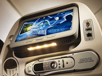 Interiér letadla A380