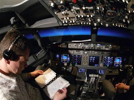 Na palub� 737 - 700 Next Gen.