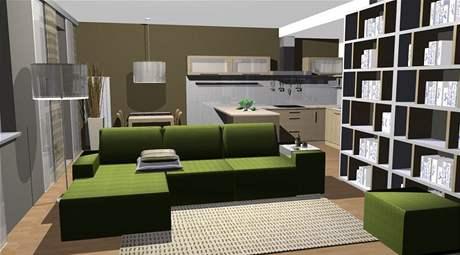 Proměna obývacího pokoje a předsíně