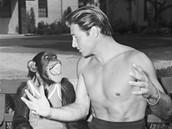 Šimpanz Cheeta s hercem Lexem Barkerem