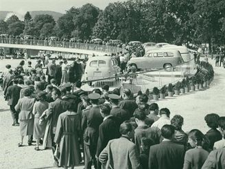 Brněnské výstaviště roku 1957