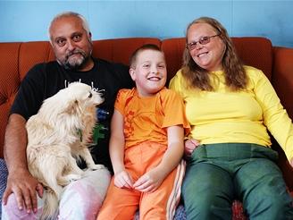 Eva Štefková s manželem a synem