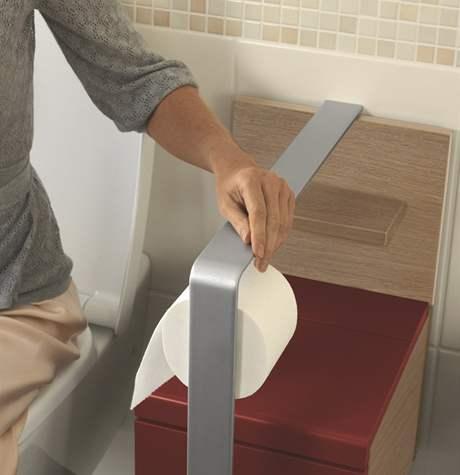 Držák toaletního papíru a madlo zároveň