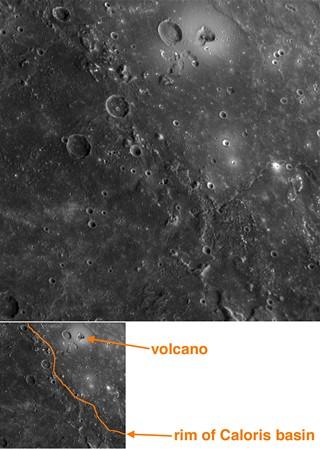 První stopy sopečné činnosti na Merkuru