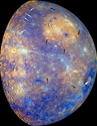 Vulkanická činnost na Merkuru