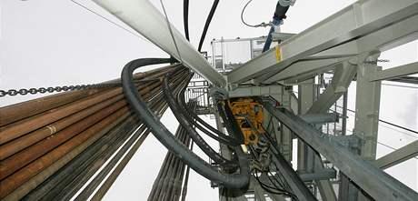 Otevření nové vrtné soupravy Moravských naftových dolů v Dambořicích