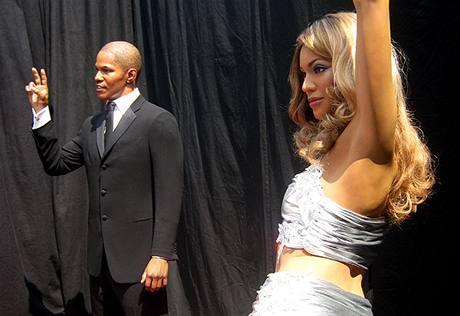 Zahájení výstavby Madame Tussaud's v Hollywoodu - figuríny Jamie Foxx a Beyoncé Knowles