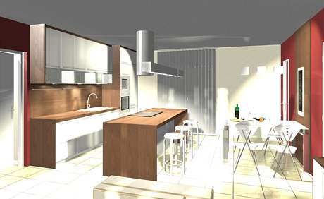 Návrh levného bydlení. Většina použitého materiálu je obnovitelné dřevo