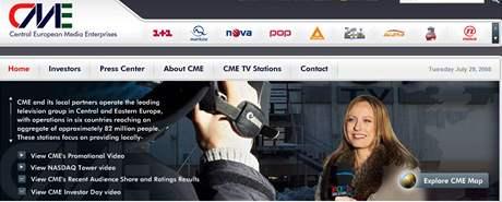 Webová stránka CME