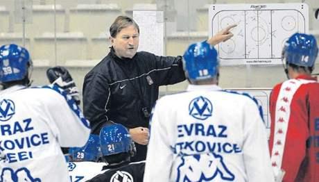 Trénink hokejistů Vítkovic